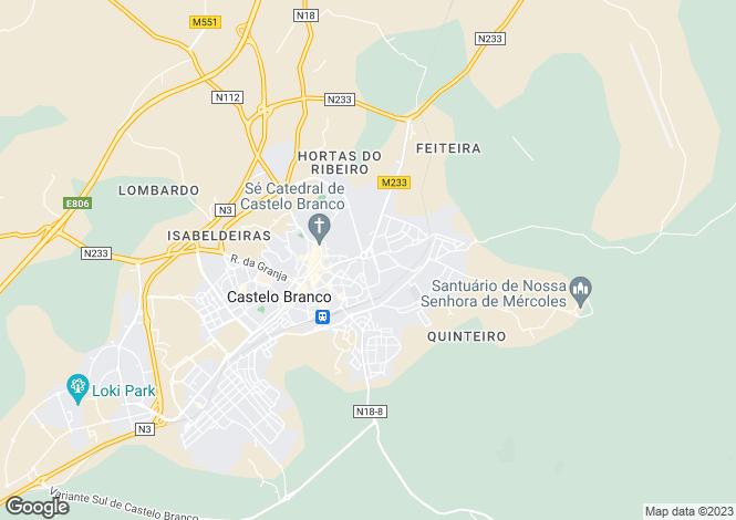 Map for Rua Principal do Sesmo, Sarzedas, Castelo Branco