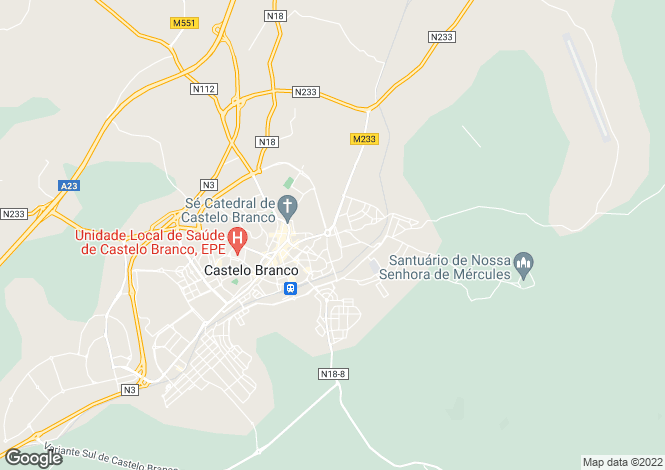 Map for Lardosa, Castelo Branco, Castelo Branco