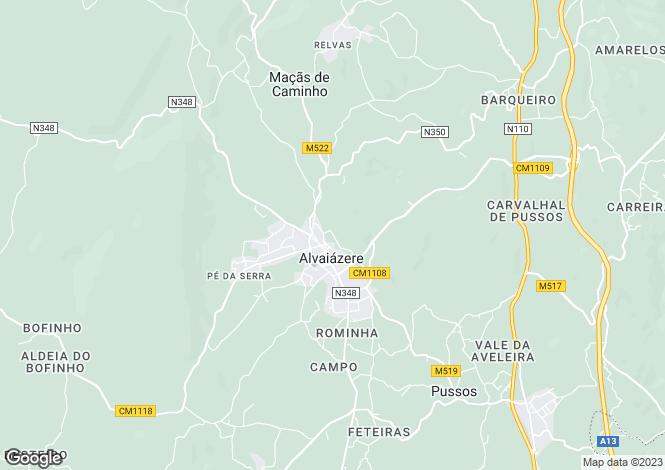 Map for Estremadura, Alvaiázere