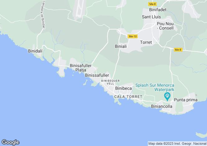 Map for Binibeca Vell, Sant Lluís, Menorca