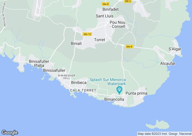 Map for Torret, Sant Lluís, Menorca