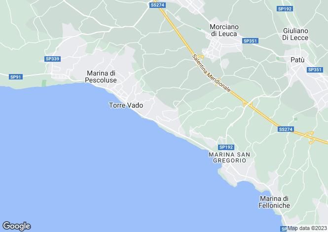 Map for Morciano di Leuca, Lecce, Apulia