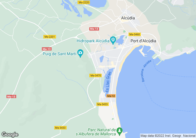 Map for Balearic Islands, Mallorca, Port D'alcúdia