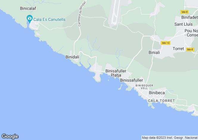 Map for Cap d'en Font, Sant Lluís, Menorca
