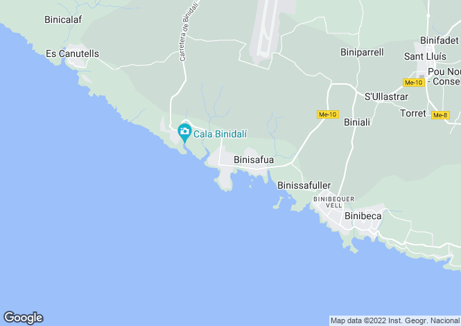 Map for Balearic Islands, Menorca, Cap d`En Font