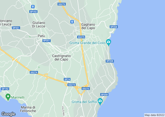 Map for Gagliano del Capo, 73034, Italy