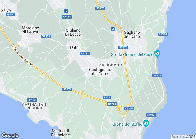 Map for Apulia, Lecce, Castrignano del Capo