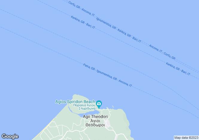 Map for Ionian Islands, Corfu, Pelekito
