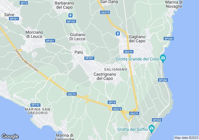 Map for lungomare C. Colombo, Castrignano del Capo, Apulia