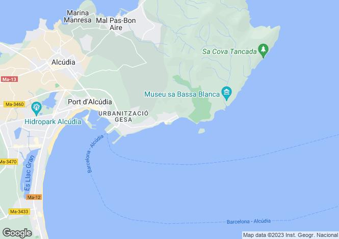 Map for 07410, Alcanada, Spain
