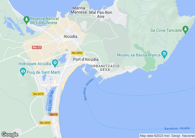Map for Port d'Alcudia, Alcúdia, Mallorca