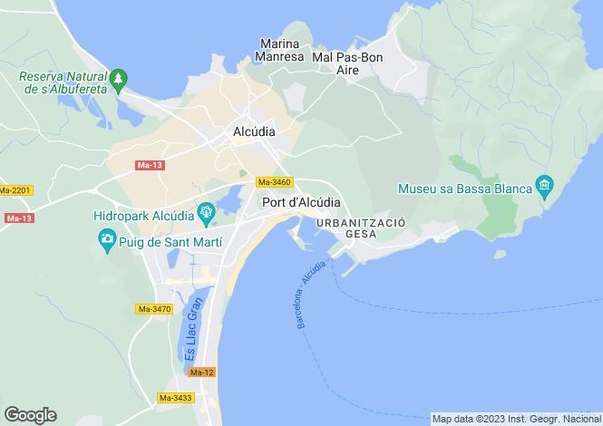 Map for Balearic Islands, Mallorca, Alcúdia