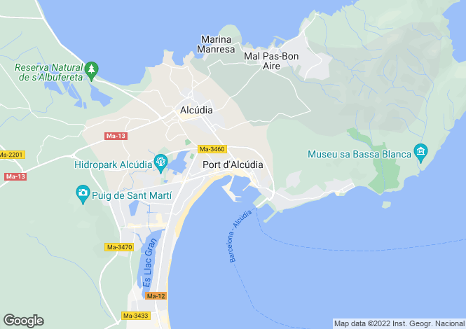 Map for Puerto De Alcúdia, Mallorca, Balearic Islands
