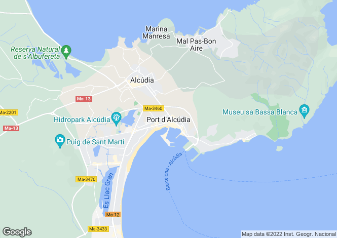 Map for Port d'Alcudia, Alcúdia, Mallorca