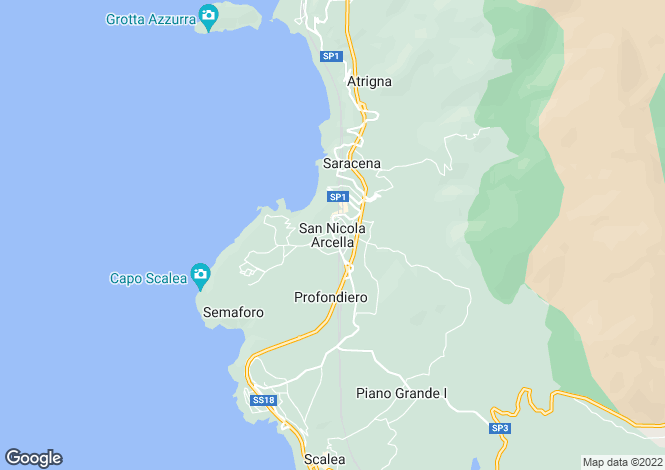 Map for San Nicola Archella, Cosenza, Calabria