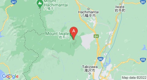 map of Mount Iwate (Japan)