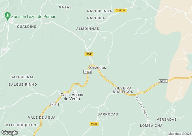 Map for Sarzedas, Castelo Branco, Castelo Branco