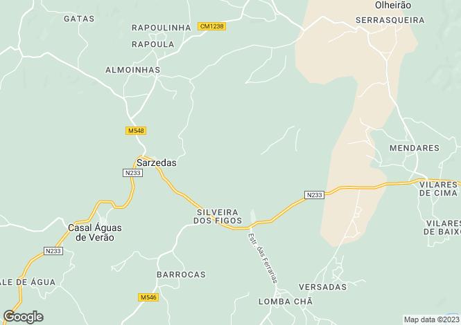 Map for Sarzedas, Beira Baixa