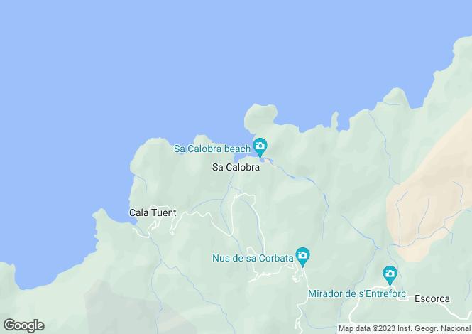 Map for Seafront Plot Of Land, Sa Calobra, Mallorca