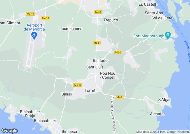 Map for Menorca, Sant Lluis, Sant Luís - San Luís