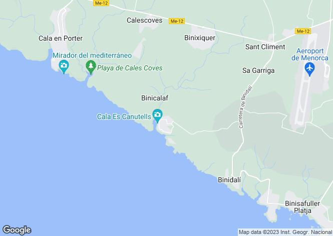 Map for Sant Climent, Menorca, Balearic Islands
