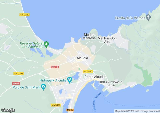 Map for Alcúdia, Alcúdia, Mallorca