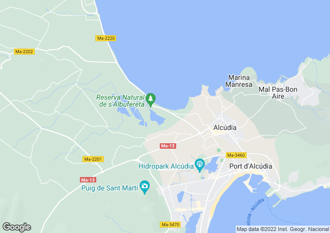 Map for 07400, Alcúdia, Spain
