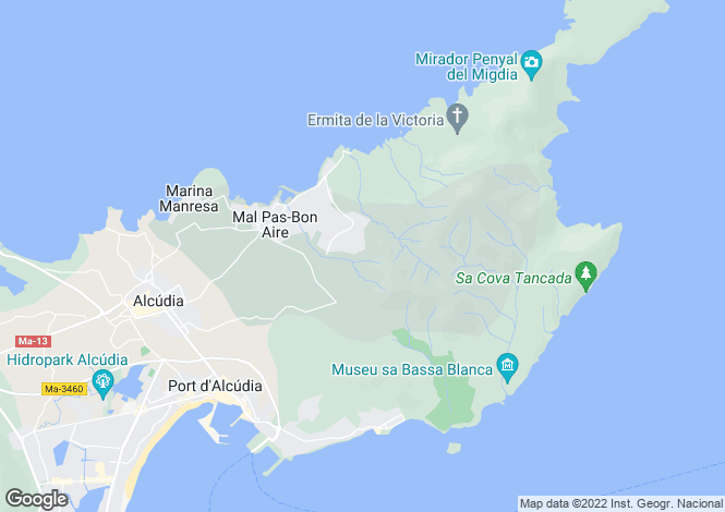 Map for Bonaire Mal Pas, 4 bedroom Villa with Exceptional Views, North Mallorca