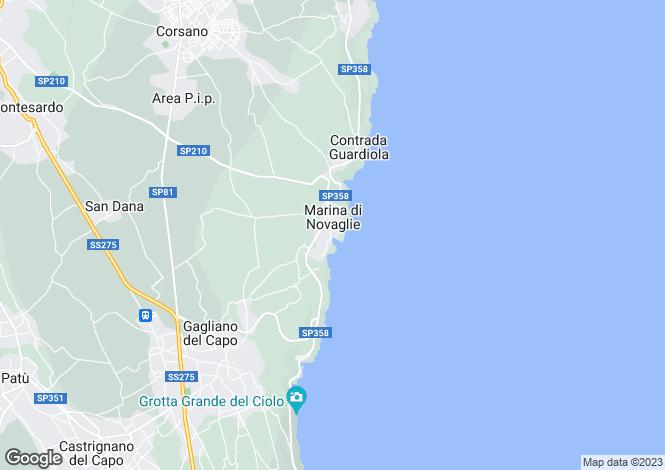 Map for Gagliano del Capo, Lecce, Apulia