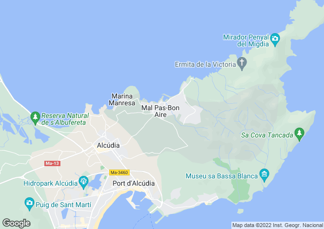 Map for Bonaire 5 bedroom villa, Nr Alcudia, North Mallorca