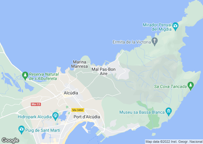 Map for Mallorca, Alcúdia, Puerto Alcudia