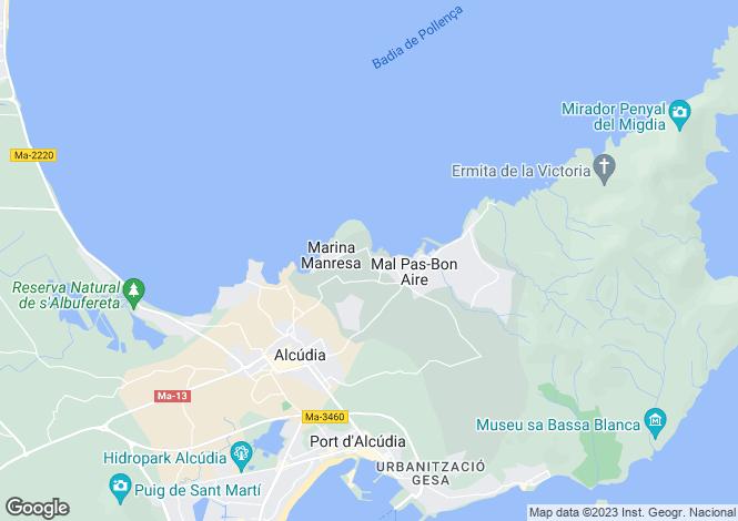 Map for Balearic Islands, Mallorca