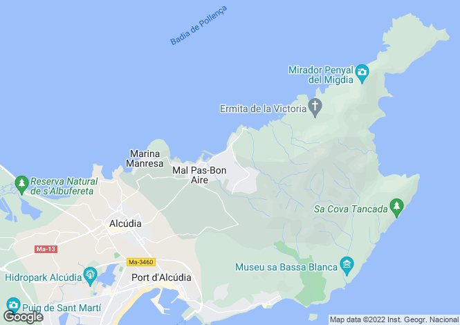 Map for 07400, Bonaire, Spain