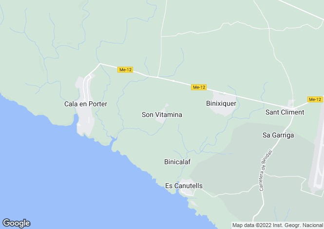 Map for Menorca, Son Vitamina, Sant Climent - San Clemente