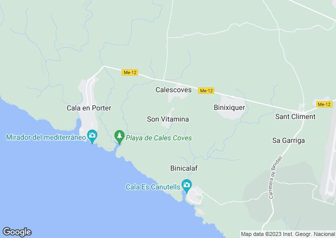 Map for Menorca, Son Vitamina, Punta Grossa