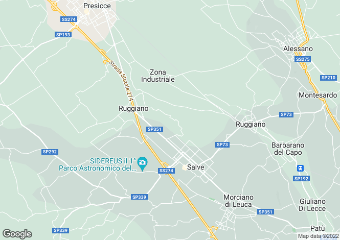 Map for Salve, Lecce, Apulia
