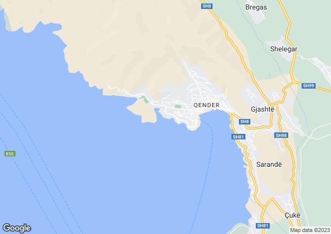 Map for Sarandë, Vlorë