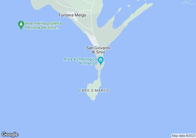 Map for Cabras, Oristano, Sardinia