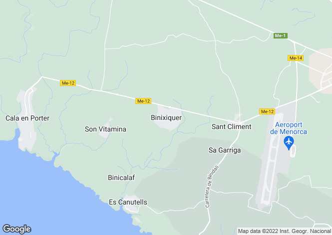 Map for Menorca, Binixica, Sant Climent