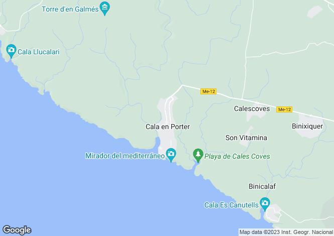 Map for Cala en Porter, Menorca, Balearic Islands