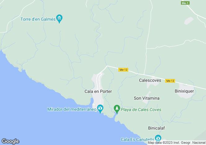 Map for Cala'n Porter, Alaior, Menorca