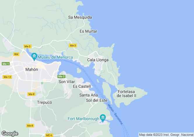 Map for Cala Llonga, Mahón/Maó, Menorca