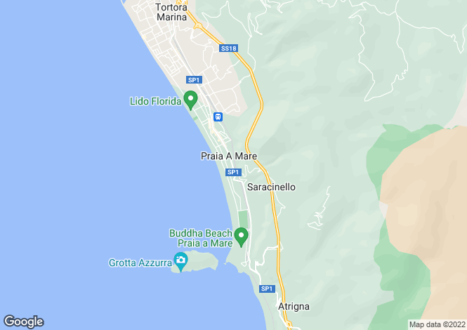 Map for Praia a Mare, Cosenza, Calabria