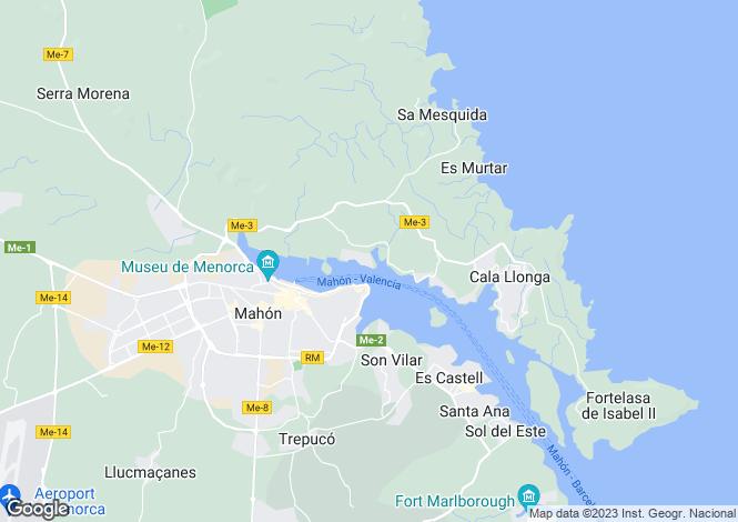 Map for San Antonio - Cala Rata, Mahón/Maó, Menorca