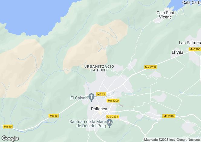 Map for Spain - Balearic Islands, Mallorca, Pollensa