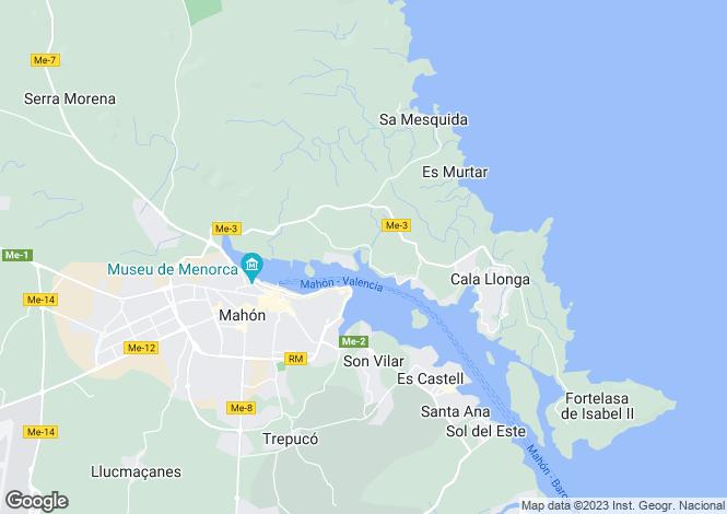 Map for Mao, Menorca, Balearic Islands