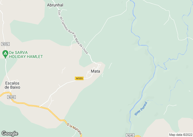 Map for Mata, Beira Baixa