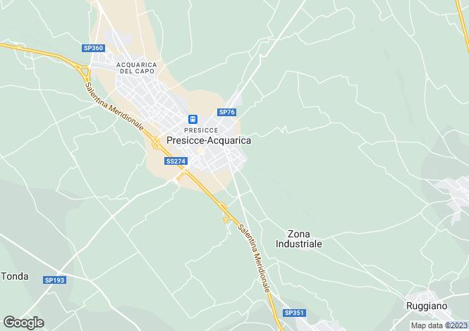 Map for Apulia, Lecce, Presicce