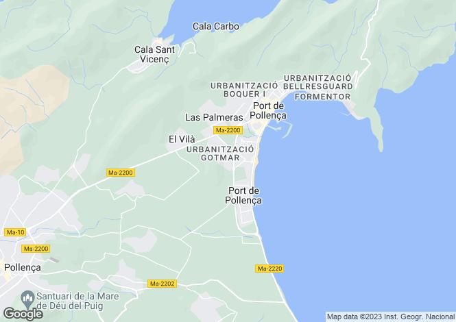 Map for Exceptional modern villa in Port de Pollensa
