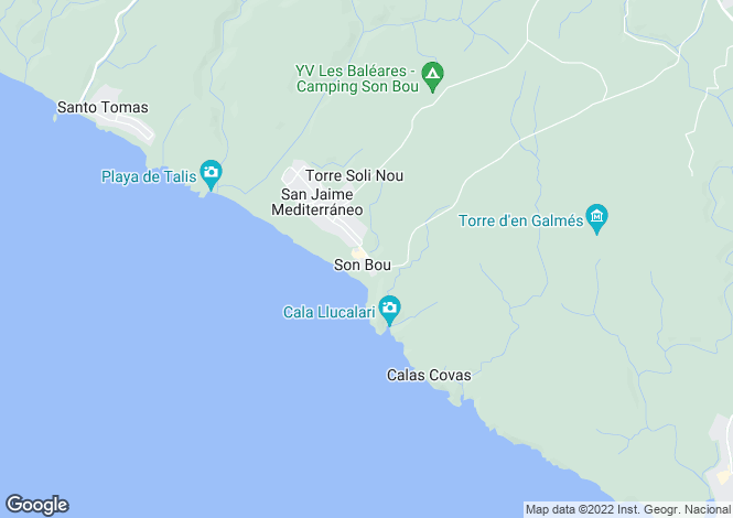 Map for Menorca, Son Bou, Son Bou